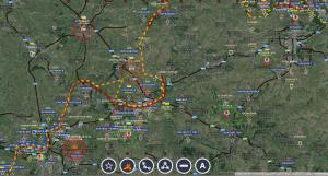 L'ennemi renforce Debalcevo - carte