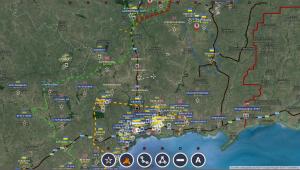 Telmanovo, l'ennemi renforce son dispositif - carte