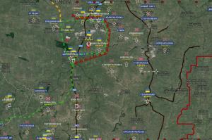 Telmanovo pris, contre-offensive vers Volnovakha - Carte