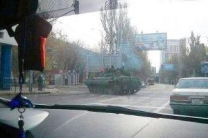 Chars républicains à Donetsk