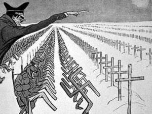 Affiche soviétique antinazie.