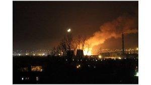Kramatorsk, dépôt de carburant saboté.