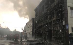 Kharkov : la résistance incendie l'équipement d'hiver des forces de répression.